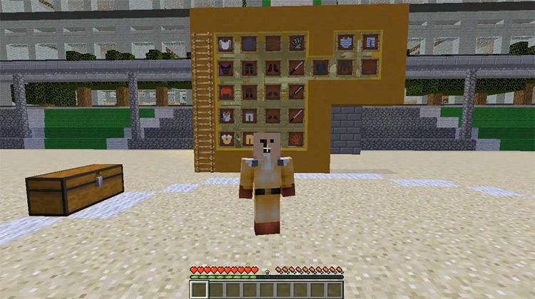 One Block Man Minecraft Mod