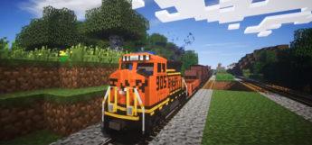 Modded Minecraft Train Screenshot
