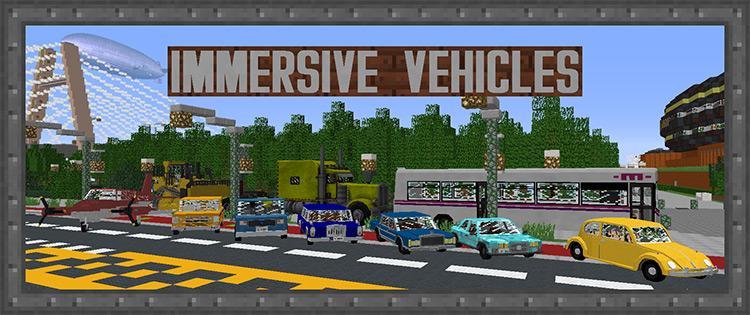 Immersive Vehicles Minecraft Mod