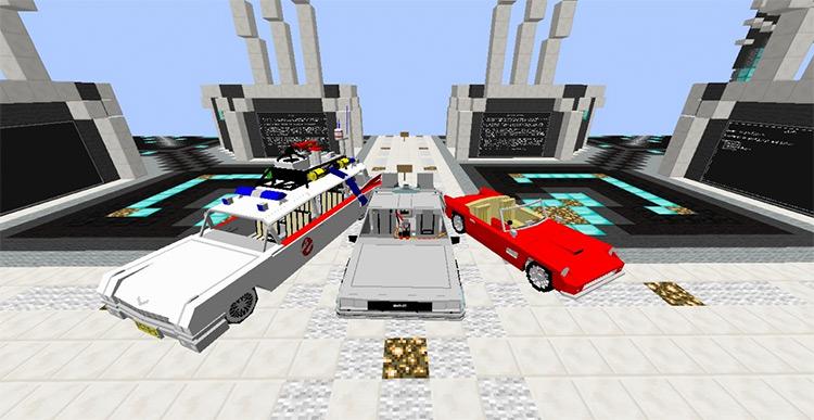 Iconic Movie Vehicles Minecraft Mod