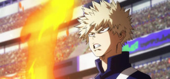 Katsuki Bakugo in BNHA Screenshot