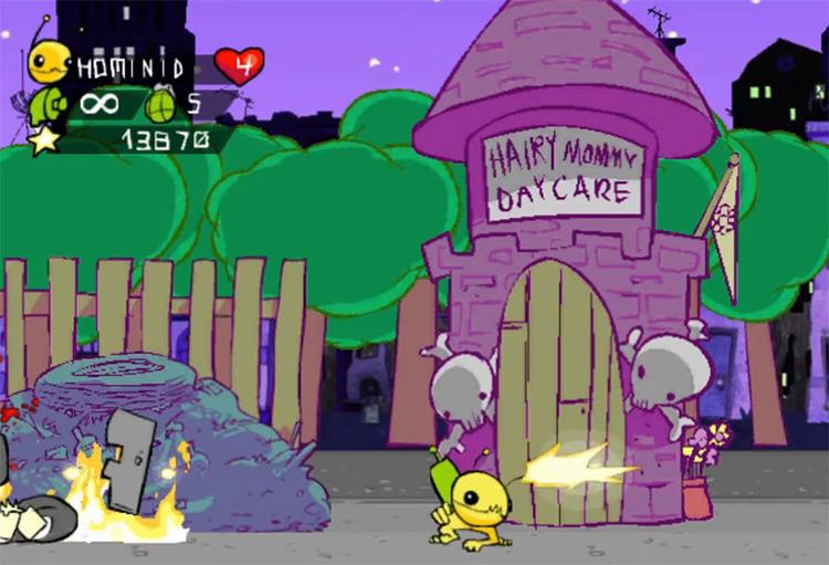 Alien Hominid screenshot for GameCube