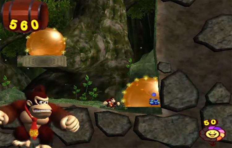 Donkey Kong Jungle Beat gameplay