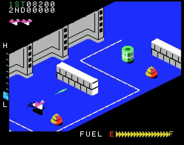Zaxxon ColecoVision gameplay