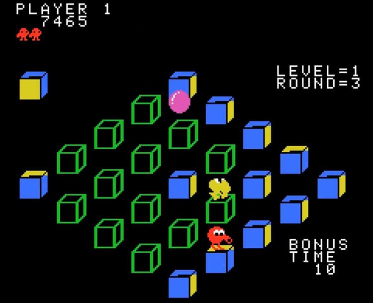 Q*bert's Qubes ColecoVision gameplay