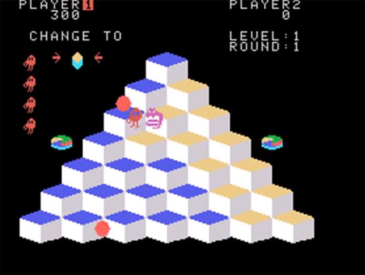 Q*Bert ColecoVision screenshot