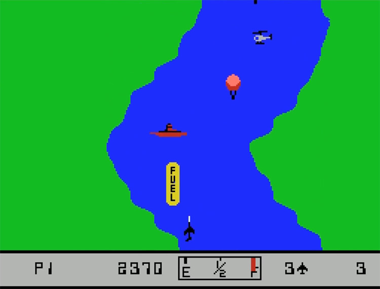 River Raid ColecoVision gameplay