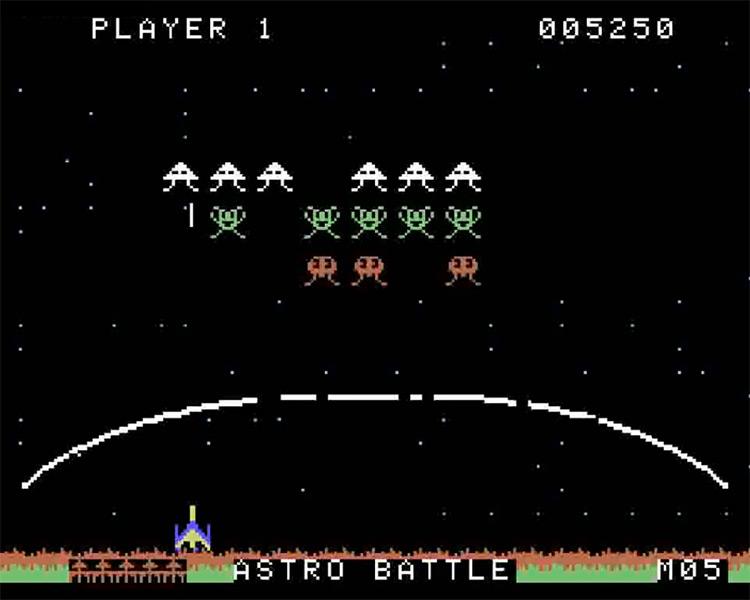 Gorf ColecoVision screenshot