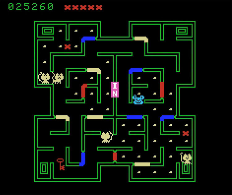 Mouse Trap screenshot for ColecoVision