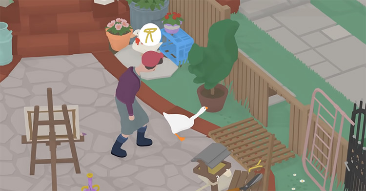 Untitled Goose Game gameplay screenshot