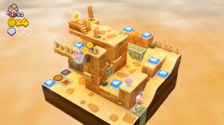 Captain Toad: Treasure Tracker gameplay Wii U