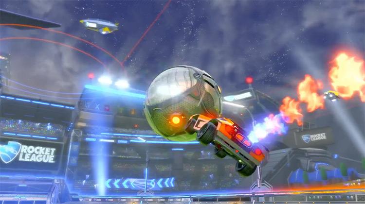Rocket League gameplay PS4 screenshot