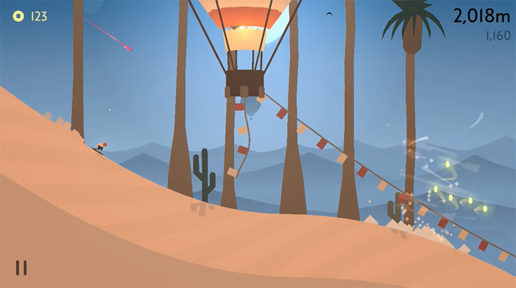 Alto's Odyssey gameplay screenshot