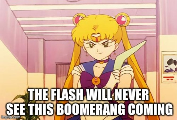 Flash will never see this boomerang coming meme