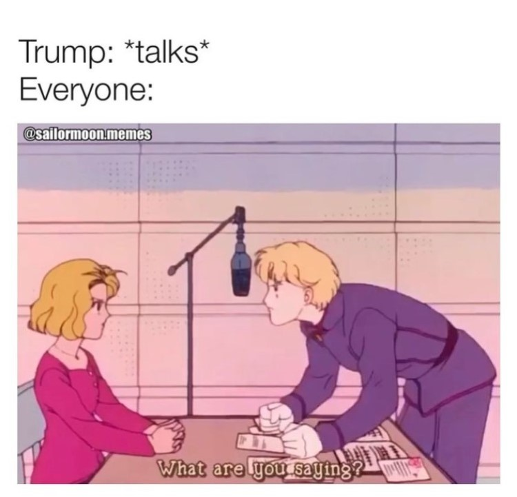Trump Sailor Moon meme