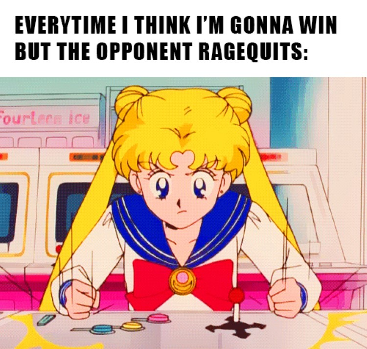 Sailor Moon ragequits meme