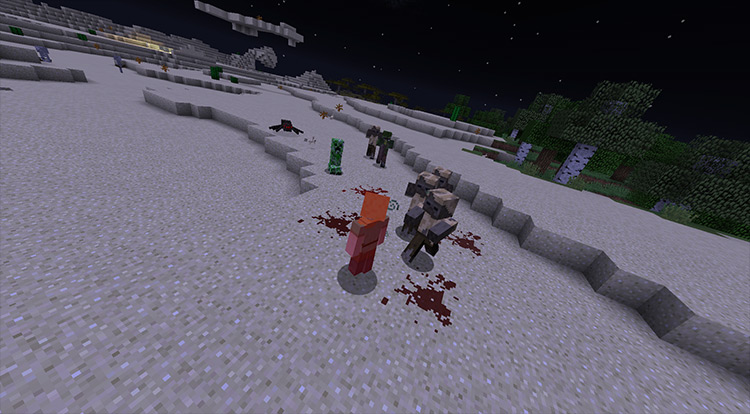 Zombie Awareness mod for Minecraft