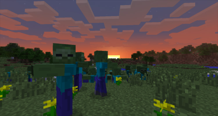 Simply Zombies Minecraft mod screenshot
