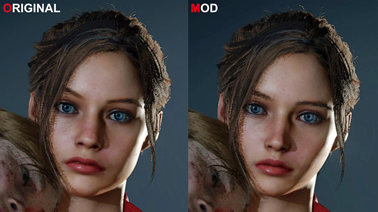 Claire-ish Claire Face Model Resident Evil 2 remake mod