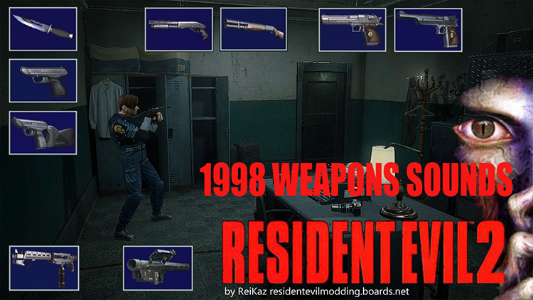 1998 Weapon Sound Effects remake mod for Resident Evil 2
