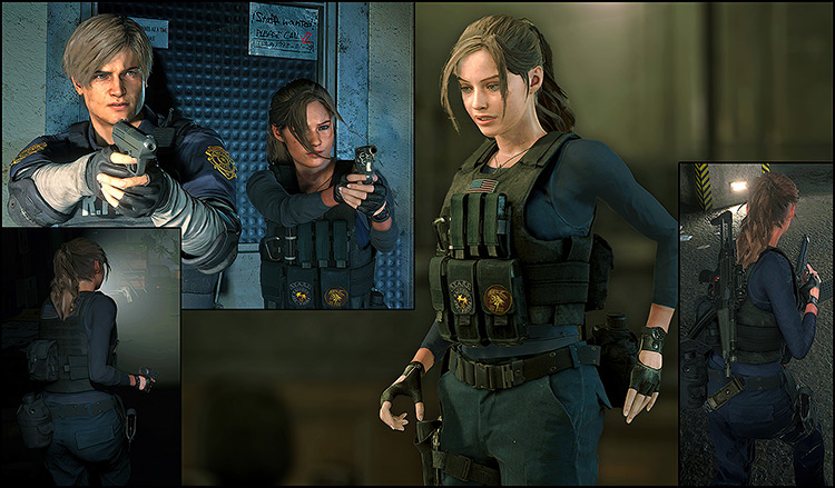 Claire – RPD Military Outfit Resident Evil 2 remake mod
