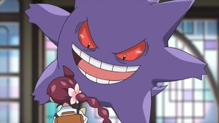 Gengar from Pokémon anime