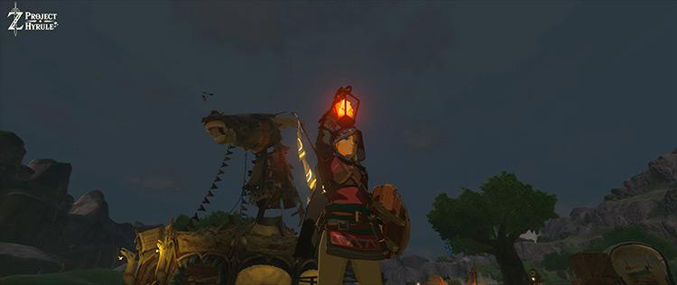 Darker Nights, Brighter Lights, Wearable Lantern LoZ: Breath of the Wild mod