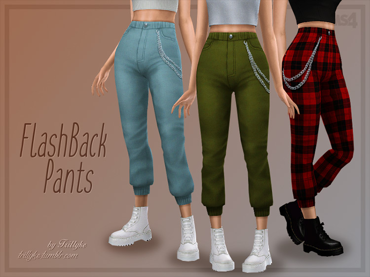 Trillyke's Flashback Pants CC for Sims 4