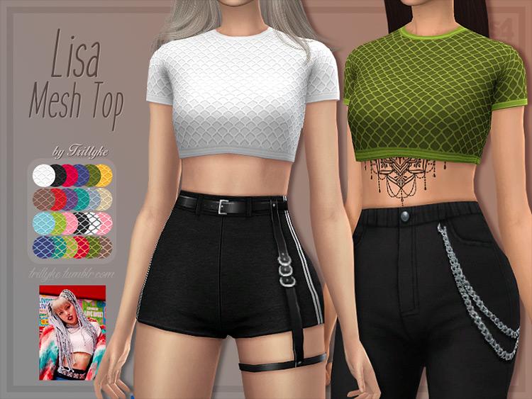 Trillyke's Lisa Mesh Top Sims 4 CC
