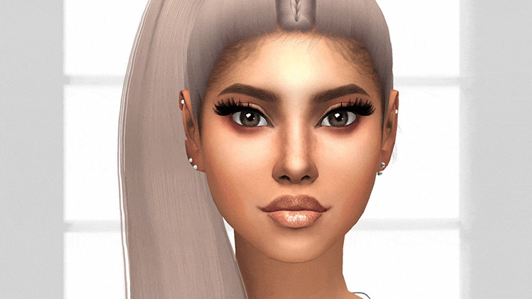 Plumbojuice's 3D Eyelashes Retexture of kijiko-catfood's 3D Lashes Version 2 Sims 4 CC