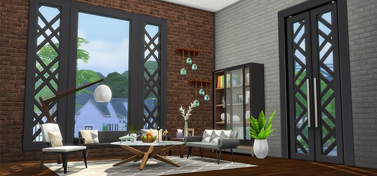City Living Windows CC Mod for TS4