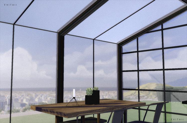 Mini Greenhouse Window Set Sims 4 CC screenshot