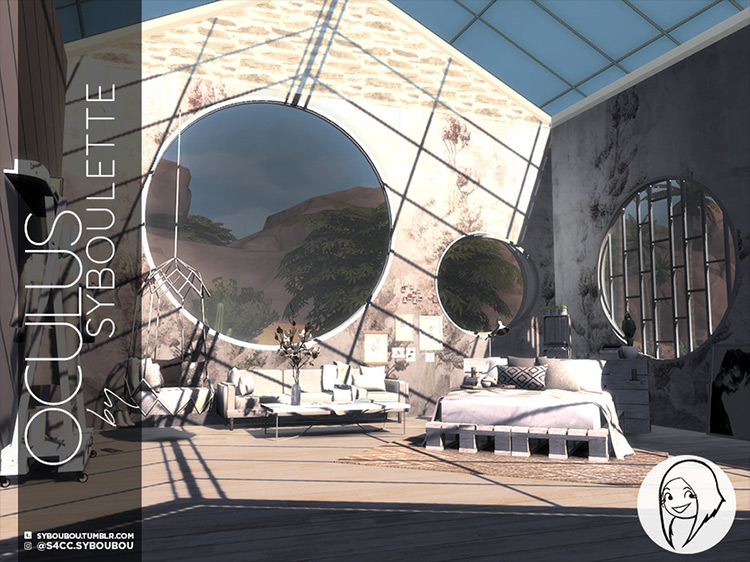 Oculus Window Set CC for Sims 4