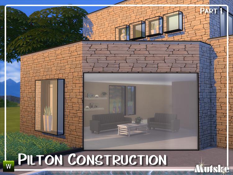 Pilton Construction Set Part 1 Sims 4 CC