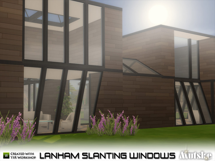 Lanham Slanting Windows Sims 4 CC screenshot