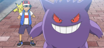 Gengar with Ash in the anime