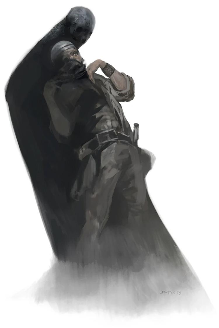 Shadow creature art from D&D 5e