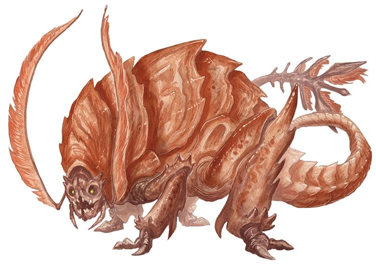 Rust Monster creature from D&D 5e