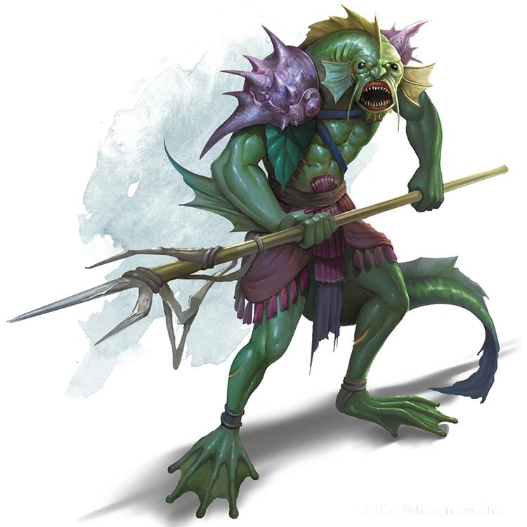 Sahuagin creature from D&D 5e