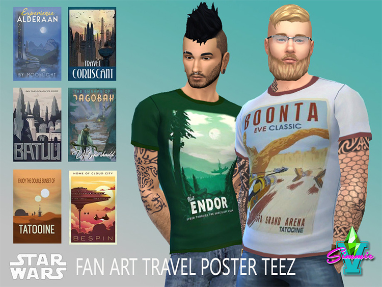 Star Wars Travel Poster t-shirts - Sims 4 CC