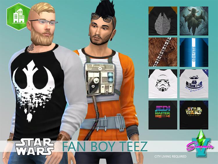 Star Wars Fanboy t-shirts - Sims 4 CC