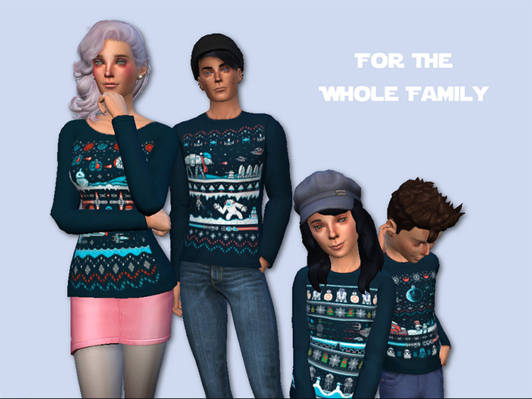 Star Wars Christmas Sweaters for TS4