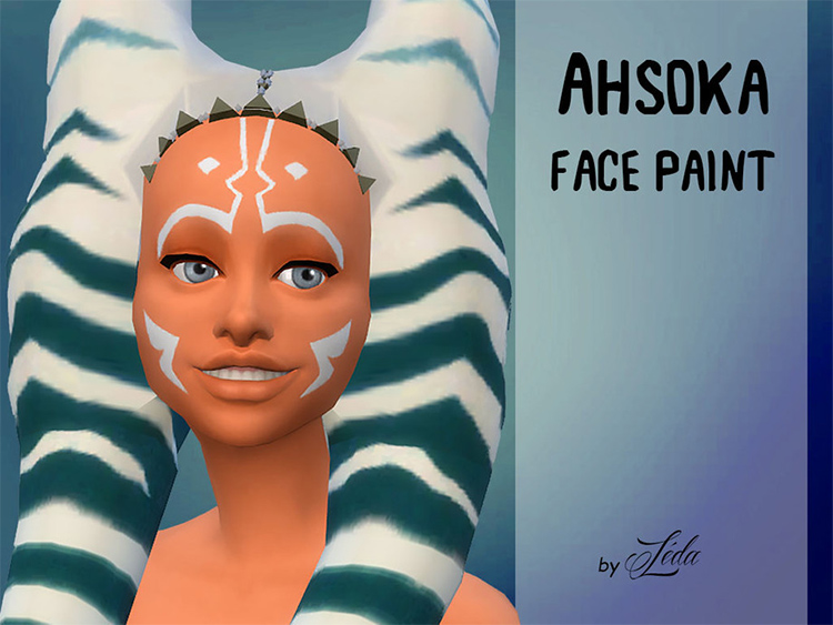 Ahsoka Tano's Face Paint for Sims 4