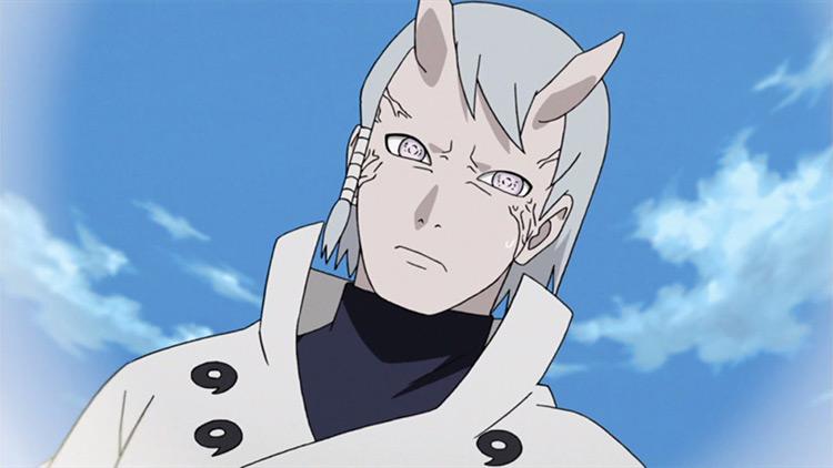 Captura de pantalla del anime Hamura Otsutsuki Naruto