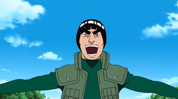 Might Guy in Naruto anime