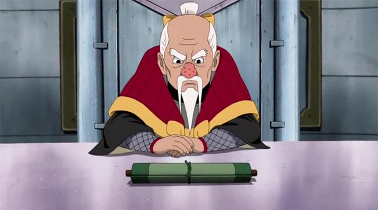 Onoki del anime Naruto