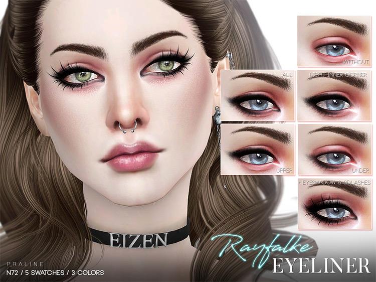 Rayfalke Eyeliner N72 by Pralinesims TS4 CC