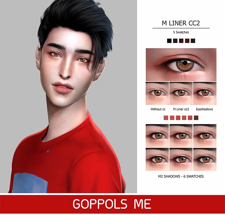 Male Makeup Pack: M Liner CC2 and M2 Shadows by Goppols Me TS4 CC