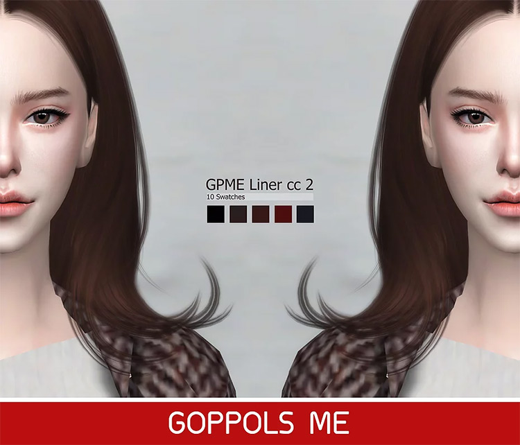 Liner CC2 by Goppols Me Liner CC2 Sims 4 CC