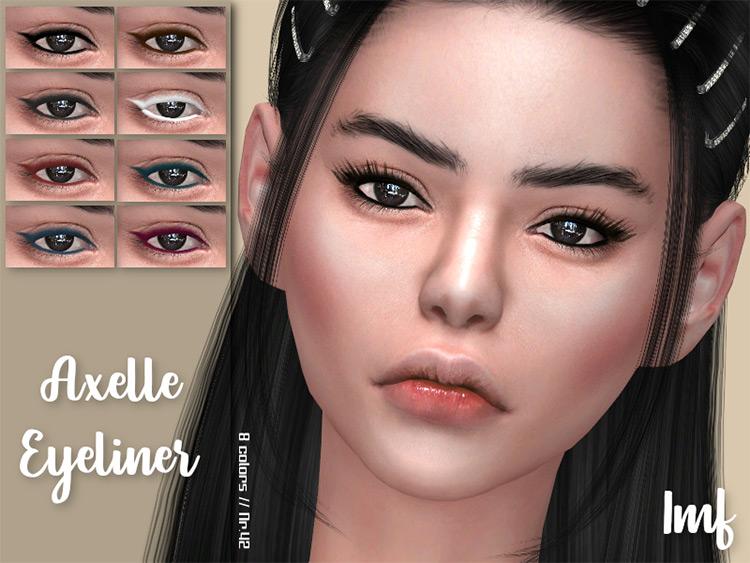 IzzieMcFire's AMF Axelle Eyeliner N.2 for Sims 4